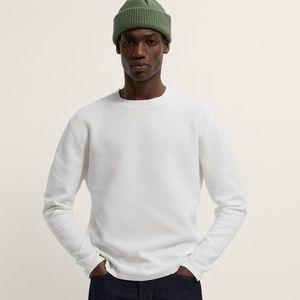 Zara Men's Textured Ottoman sweater new wi…